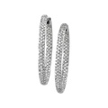 Susan Smith Legacy collection, pave set diamond hoop earrings