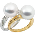 Ring with South Sea Cultured Pearl and Diamond accents