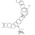 Sterling Silver Halo Bracelet with Christmas Star