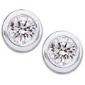 White Gold Classic Diamond Solitaire Stud Earrings