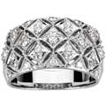 White Gold ring with Diamonds set in Filigree band