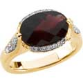 Yellow Gold Paragon Ring with Garnet