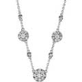 White Gold Christmas Floret Neclace with Diamonds