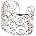 Sterling Silver, Diamond accented Cuff Bracelet