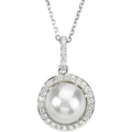 Entourage Pendant with Fresh Water Pearl and Diamonds