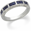 Blue Sapphires and Diamond Band