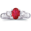 Our Exclusive Platinum Ruby and Diamond Ring