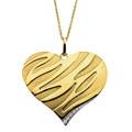 Heart Pendant with Diamond accents on 18 inch rolo chain